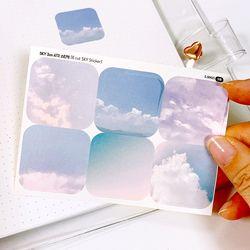 SKY 3cm 사각 스티커 (6 Cut Sticker) 5매