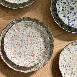 일본 도자기 그릇 아리타 스위트 원형 접시 소5p 중4p