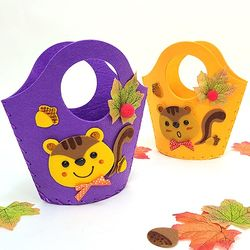 [탑키드] 만들기 다람쥐 펠트가방 (주황 보라 중 선택)