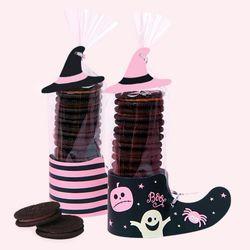 할로윈 핑크 모자달린 신발 (2set)
