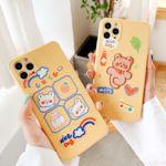 아이폰11 pro max xr xs se2 8 곰 캐릭터 자수 케이스
