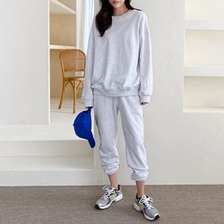 [SET] Trend Cotton Sweatshirt   Jogger Pants