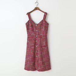 Tweed Wool Layered Dress
