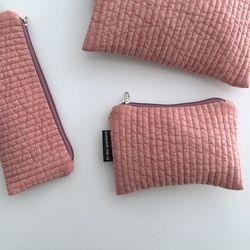 패딩 핑크 파우치(Padding pink pouch) - medium