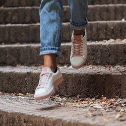 [mumka] Basic Pink Texture Sneakers