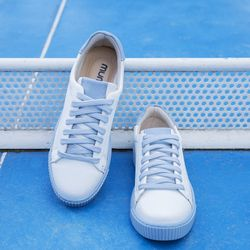 [mumka] Basic Blue Texture Sneakers