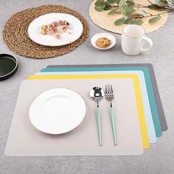 실리콘 사각 식탁매트 4P