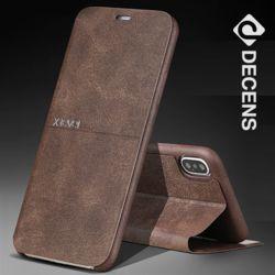 데켄스 M090 아이폰 레더 플립 케이스
