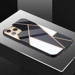아이폰12 유니크 패턴 글라스 범퍼 하드 케이스 P458