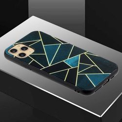 아이폰12프로 유니크 패턴 글라스 하드 케이스 P458