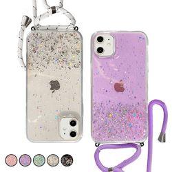 아이폰6S 반짝이 글리터 스트랩 젤리 케이스 P552