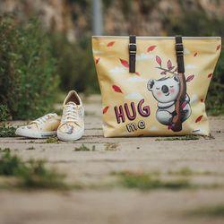 [mumka] Hug me Koala Orange Wide bag