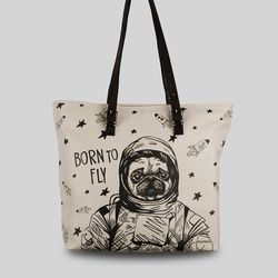 [mumka] Pug the Astronaut Wide bag
