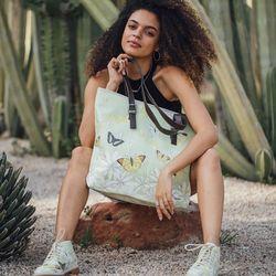 [mumka] Butterflies Wide bag