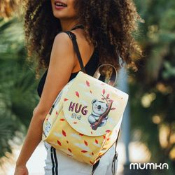 [mumka] Hug me Koala Orange Backpack