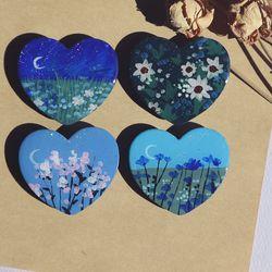 그려낸 푸른 꽃 그립톡 스마트톡