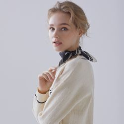 100% silk scarf (desire_black) (1color) TMASA23Q05