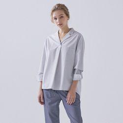 언밸런스 오픈카라 셔츠 (2colors) TMYWA23W22