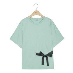 [W Lounge] 실켓 리본 티셔츠 (4colors) TMHWA26W22