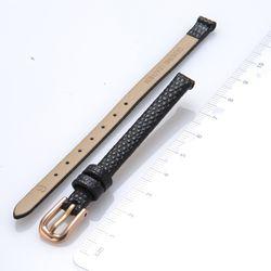 로즈몽 여성시계 가죽밴드 6mm SC-0603R 블랙
