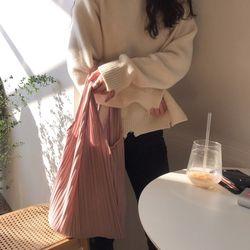 플리츠 백 핑크
