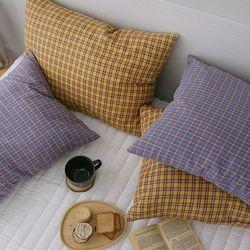 따뜻한 체크 베개커버-2color-40x60(커버-솜포함)