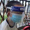 안면보호대 투명마스크 일체형 소형/고글 병원 식당