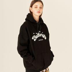 [예약판매 10/9 순차배송] 오드스튜디오 버터플라이 볼드 후드 티셔츠- BLACK