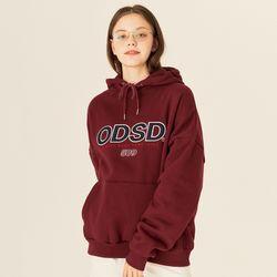오드스튜디오 ODSD 로고 후드티셔츠 - BURGUNDY