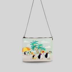 [mumka] Penguin Family on Vacation Casual Clutch