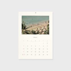 2021 Calendar - Wishing for Bon voyage