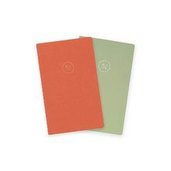 21 HALF DIARY set  orange green