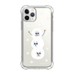 뮤즈캔 ADEEPER 아이폰 11 프로 눈사람 스티커 탱크방탄 케이스