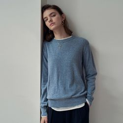SOFT ROUND NECK KNIT BLUE
