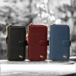 LG V50 (V500) BrahmsWallet 천연소가죽지퍼 지갑 다이어리