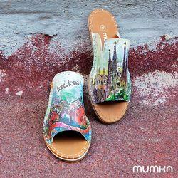 [mumka] Gaudis Barcelona Flat sandal