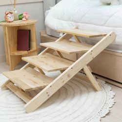 강아지 접이식 원목 침대계단 슬라이드 미끄럼 방지 매트(5type)
