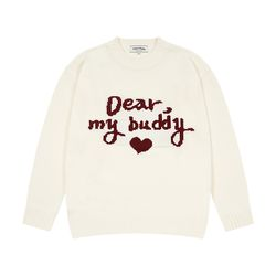 Dear Buddy Round Knit (cream)