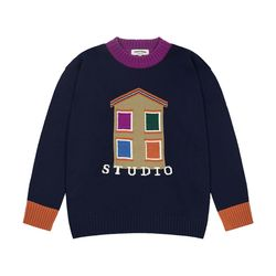 House Round Knit (navy)