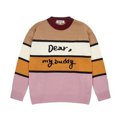 Dear Buddy Stripe Round Knit (lavender)