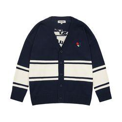 Heart Knit Cardigan (navy)