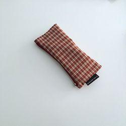 와인 체크 필통(Wine check pencil case)