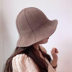 니트 벙거지 모던 여성 와이어 모자 버킷햇 2color