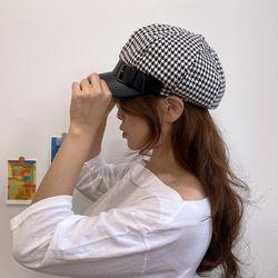 하운드 체크 헌팅캡 마도로스 모자 2color