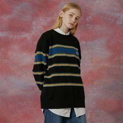 Small original logo stripe knit-black