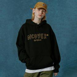 Handwriting original outline hoodie-black