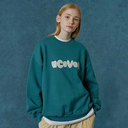 Signature patch logo sweatshirt-bluish green