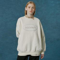Original velvet patch sweatshirt-cream