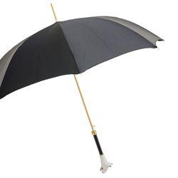 [파소티] 우먼럭셔리 불 테리어 자동 우산 WX2P4K62, 블랙