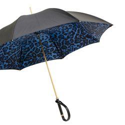 [파소티]애니멀리어 블루 레오파드 더블 클로스 아세테이트 우산